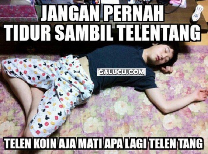Jangan pernah tidur sambil telentang #GambarLucu