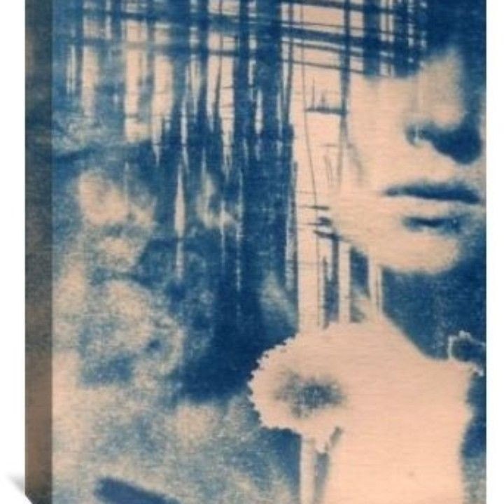 Cyanotype Portrait 16x20 Canvas Wall Art from PixGrid for $49.99 on Square Market
