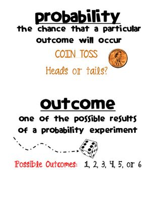 Probability Vocab Cards.. and other math vocab cards!