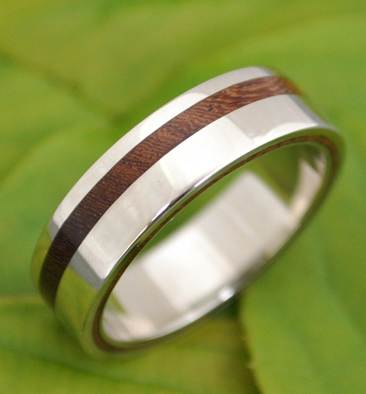 equinox nacascolo wood ring with recycled silver ecofriendly wedding band wood wedding ring - Wooden Wedding Rings For Men