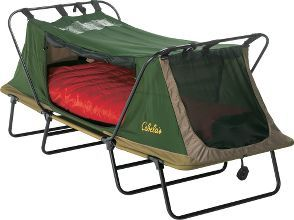 Cabelas Deluxe Tent Cot – Single ... Interesting concept.  I'm still NOT going camping.  But there could be other neat uses for this.