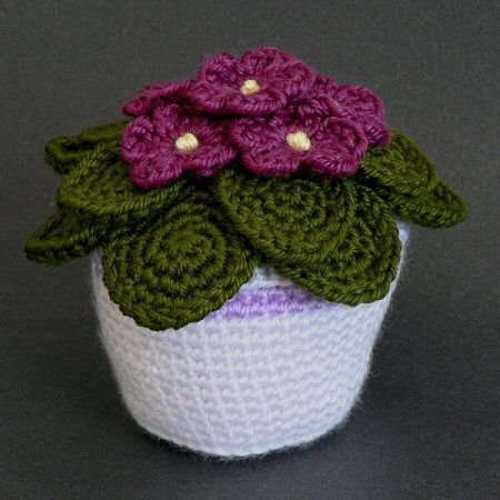 African Violets crochet pattern