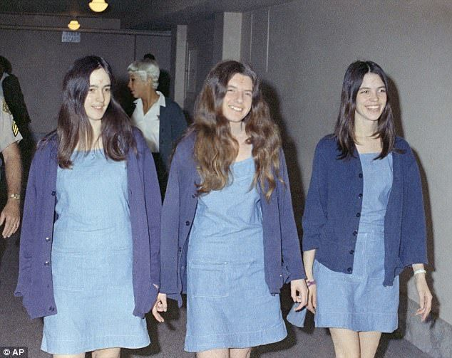 The Manson 'Family' included young women such as Susan Atkins, Patricia Krenwinkel and Leslie Van Houten (L to R) who carried out seven murders including pregnant actress Sharon Tate  Read more: http://www.dailymail.co.uk/news/article-5104293/Charles-Manson-s-son-says-estate-worth-millions.html#ixzz4zN9Q0NL9  Follow us: @MailOnline on Twitter | DailyMail on Facebook