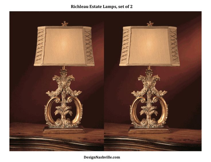 richleau estate lamps set of 2 affordable luxury european styles