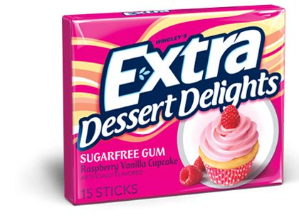 Extra Gum | Flavor Family –Raspberry Vanilla Cupcake