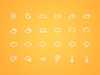 Ico_weather  http://dribbble.com/shots/629496-Ico-Weather?list=searches=weather_icon