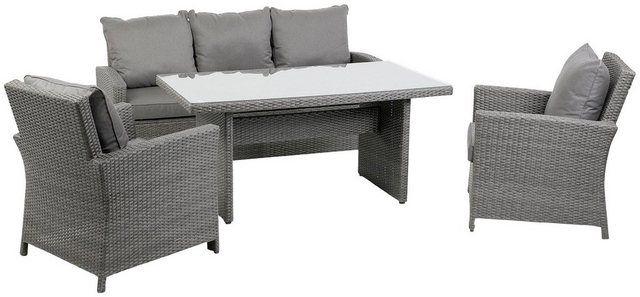 Loungeset Puri 14 Tlg 1 Sofa 2 Sessel Tisch 150x80 Cm