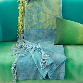 Kashgar Jade - Elegant Modern Jacquard Blanket