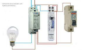 Esquemas eléctricos: CONTACTOR Y MANUAL AUTOMATICO RELOJ HORARIO