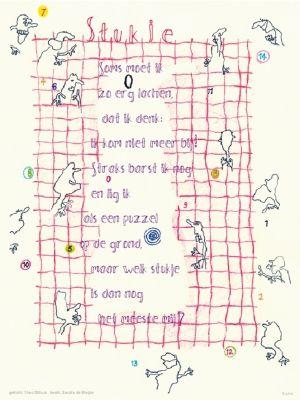 Aan de muur - S A L E     P o ë z i e p o s t e r s - poëzieposter met gedicht Stukje van Thea Olthuis