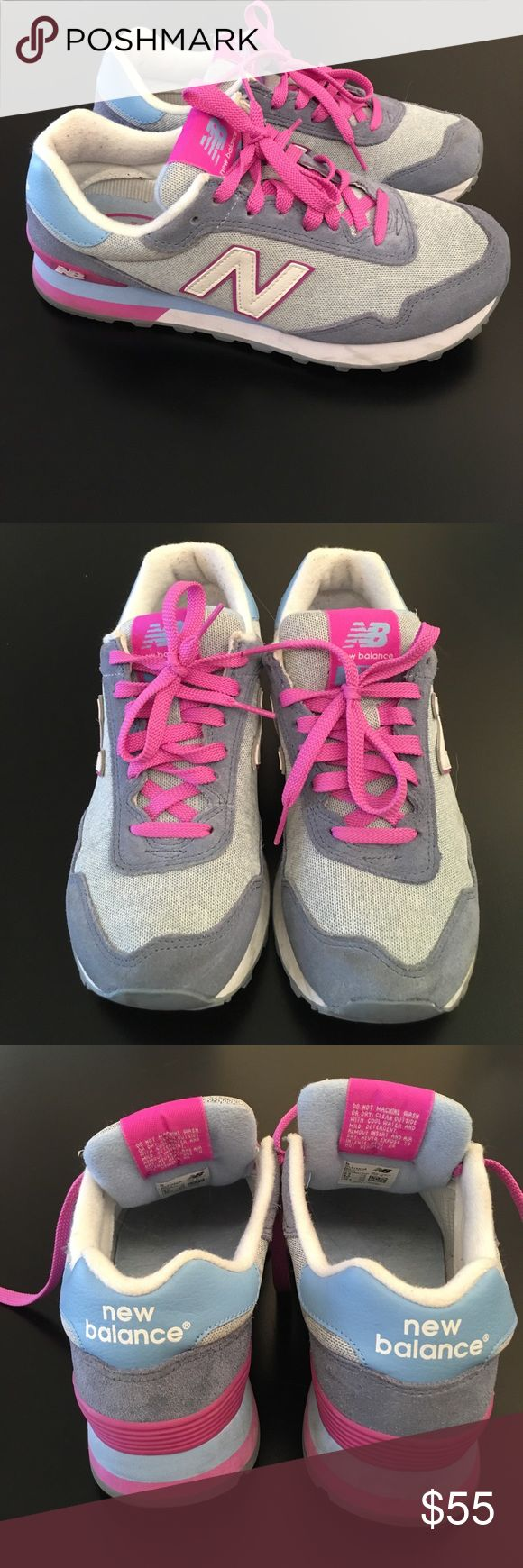 New Balance 515 Tennis Shoes New Balance 515 Lifestyle Shoes. Worn Twice. EUC. Grey, blue and purple color. New Balance Shoes Athletic Shoes