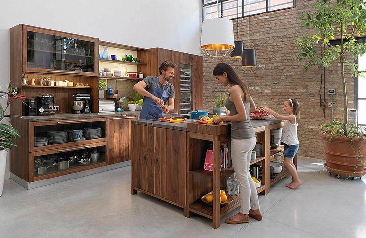Küche von TEAM 7 - Loft in Nussbaum Loft Haus - Penthouse - team 7 küche