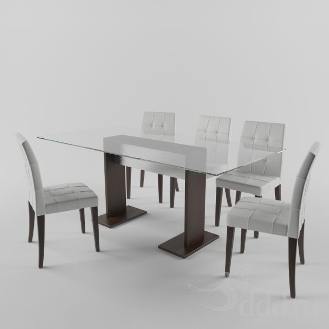 стол и стулья 3dsMax 2012 + obj (Vray) : Стол + стул : Файлы : 3D модели, уроки, текстуры, 3d max, Vray