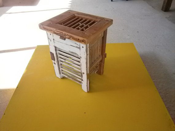 Handmade stool made from old window shutters by SiloArtFactory