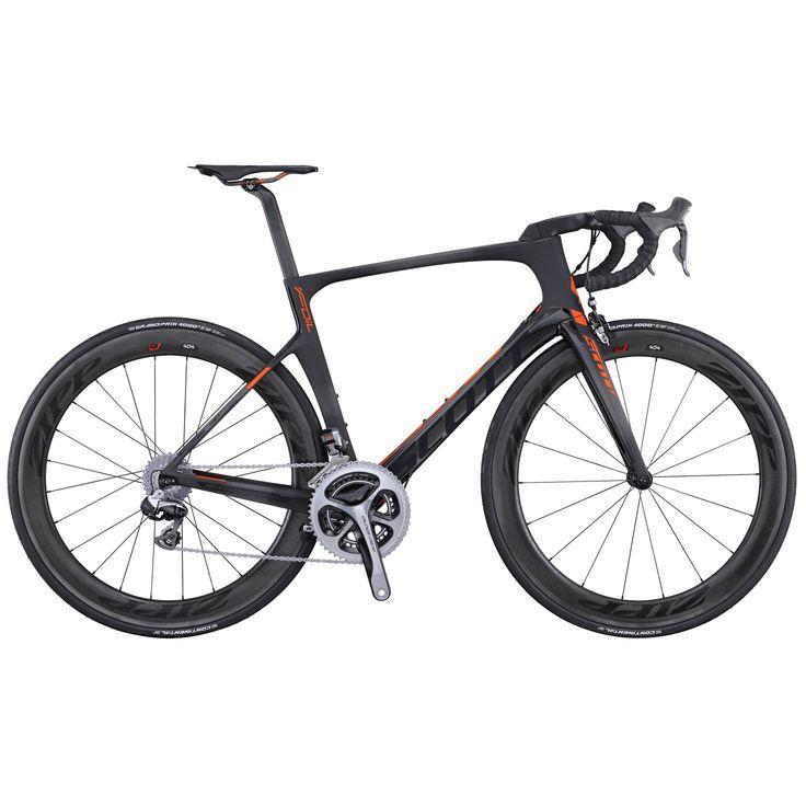 2016 Scott Foil Premium Carbon Road Bike Black Red