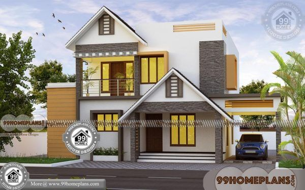 Small Cottage Home Plans 50 2 Floor House Design With Terrace