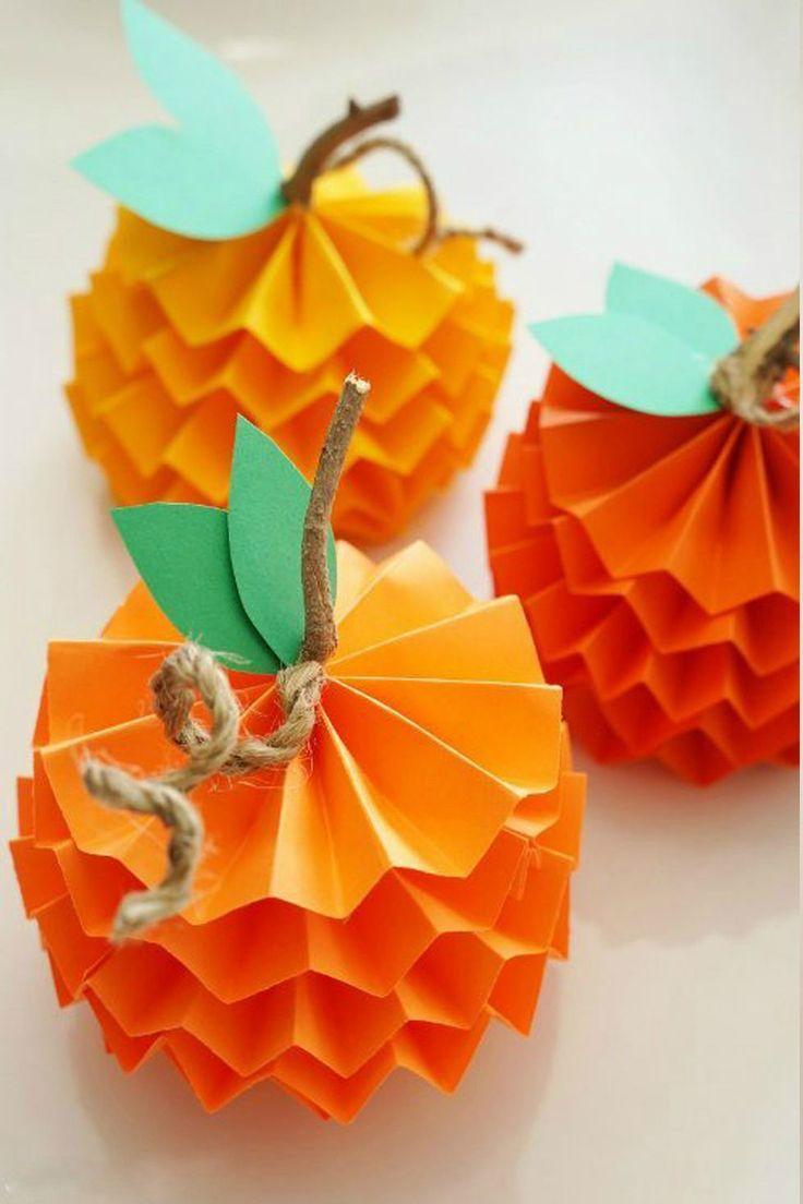 45 DIY Ideen für Basteln mit Kindern Herbst