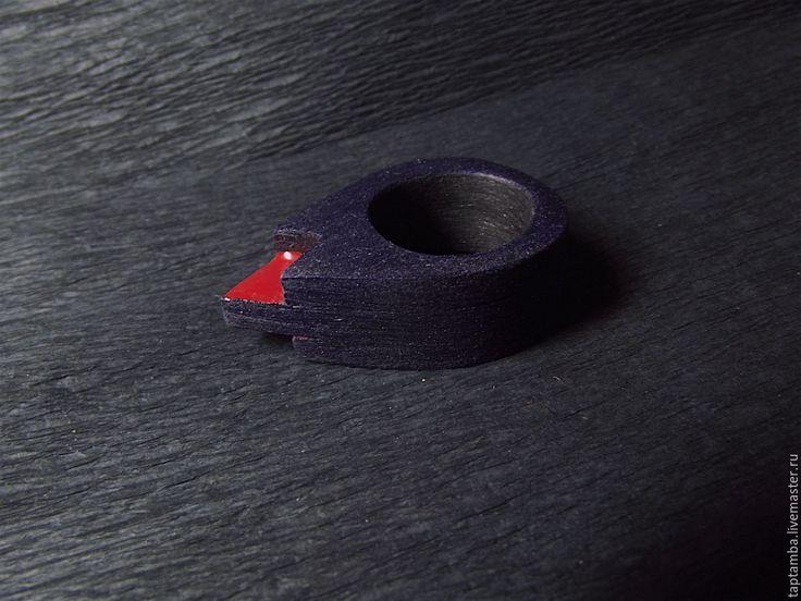 """Купить Кольцо из полимерной глины """"Ромб"""" - тёмно-синий, кольцо, модерн, минимализм, минималистичное кольцо"""