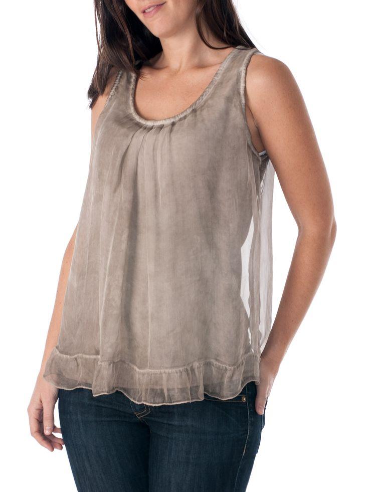 Blusa de seda de la marca española Lombok shop.