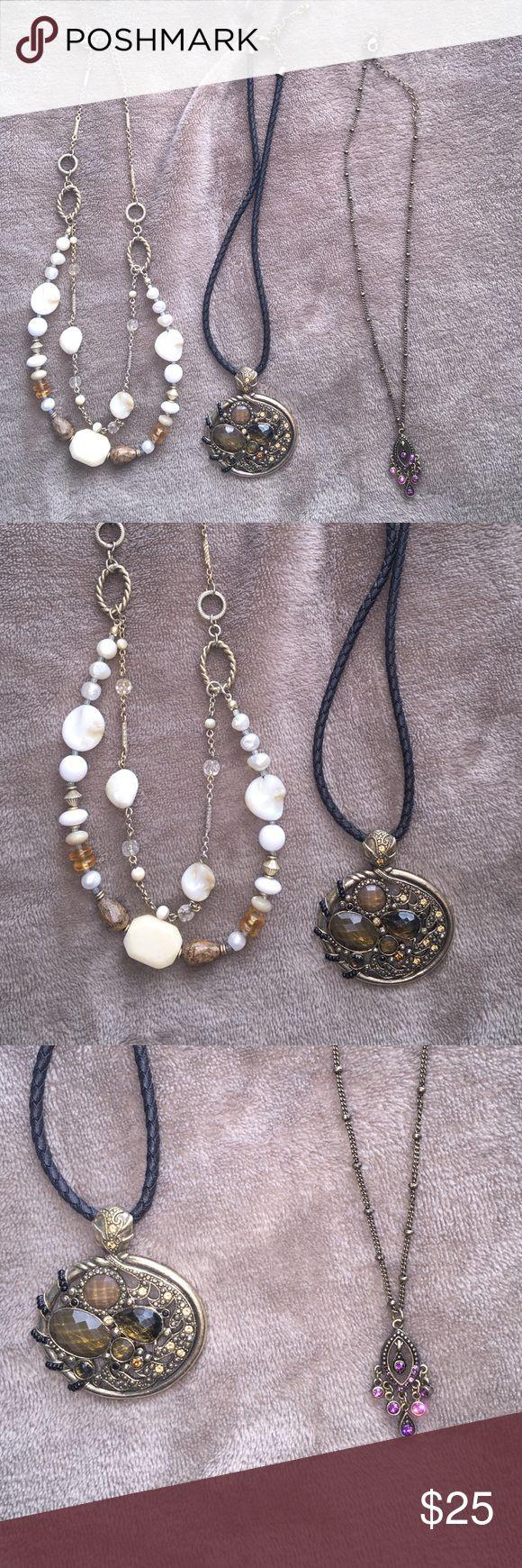 Lot of three Lia Sophia necklaces Three necklaces by Lia Sophia Lia Sophia Jewelry Necklaces