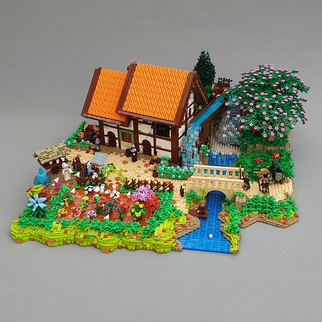 Countryside idyll built of carrots and sticks