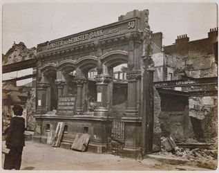 Ruined buildings in Dublin after 1916 Easter Rising
