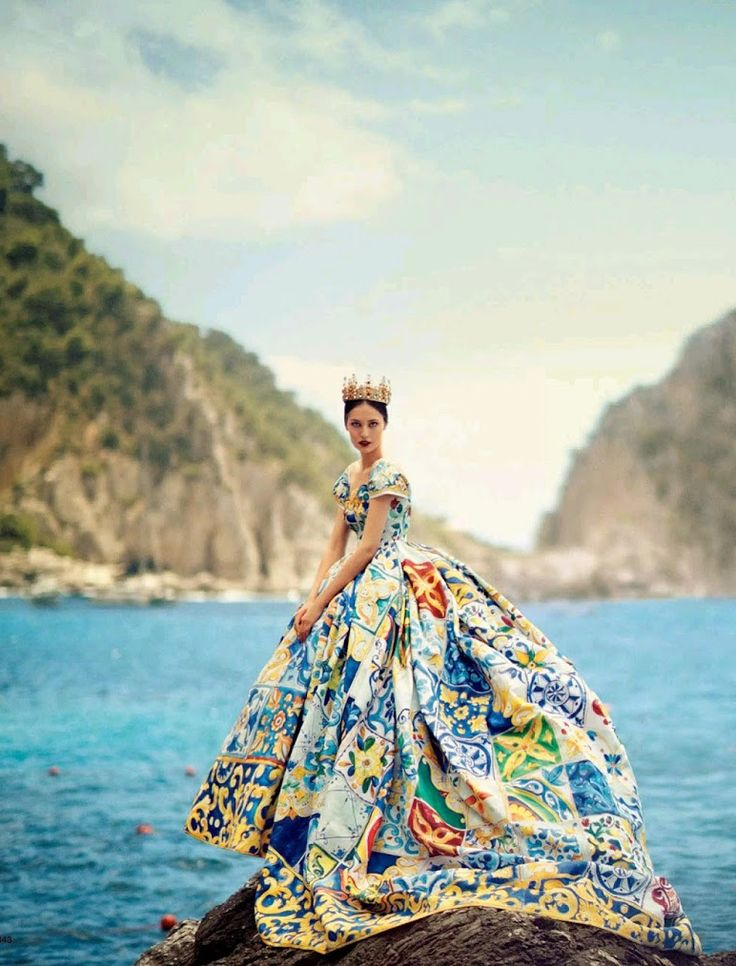 """La Canzone Del Mare"" by Boo George for Vogue Japan October 2014 - Dolce&Gabbana Alta Moda Fall 2014"