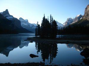 Spirit Island on Maligne Lake
