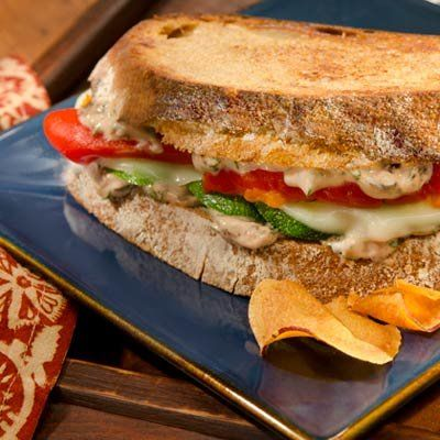 These 22 Mediterranean diet-inspired recipes, like this creamy Greek panini, are full of healthy fats, whole grains, vitamin-packed veggies, AND lean protein. | Health.com