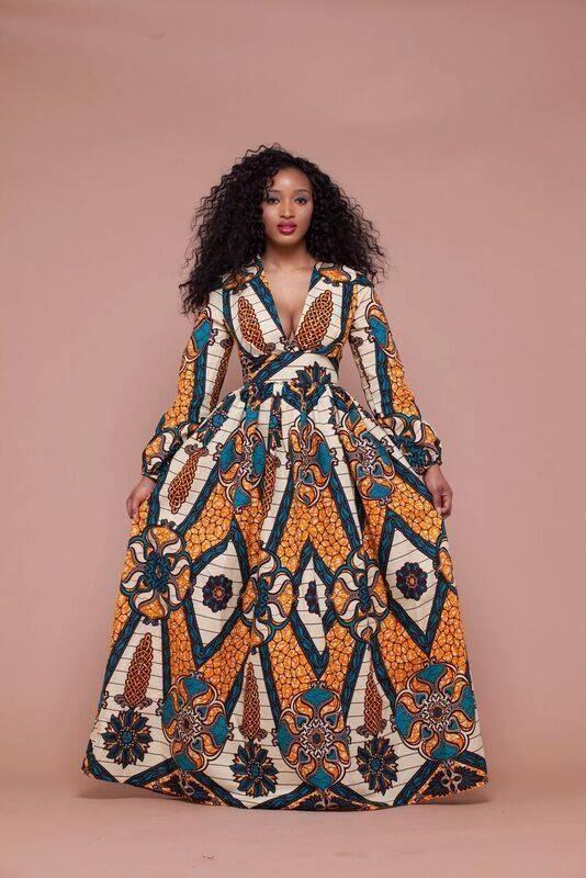 african pattern dress robe