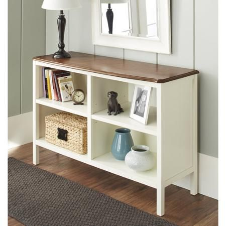 "10 Spring Street Hinsdale Horizontal Bookcase, Multiple Colors - 47.5""W x 17""D x 31""H Walmart.com Red is $150, White is $140"