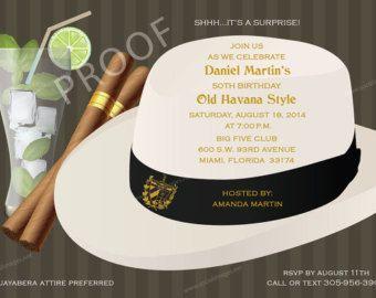 Imprimibles invitación cubana de la Habana 5 x 7 por partyblossoms