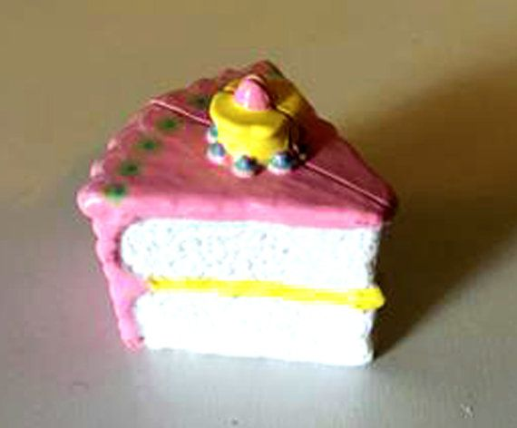 Vintage Polly Pocket 1994 BBT Happy Birthday Playset Cake Compact Blue Bird Rare, LOOKx