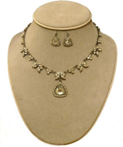 Titanic Jewelry Rose's Dinner Necklace & Earrings