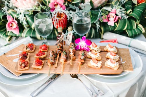 Floral: Flower Farm   Catering: Beaches & Backyards Catering   Photography: Mary Claire Photography