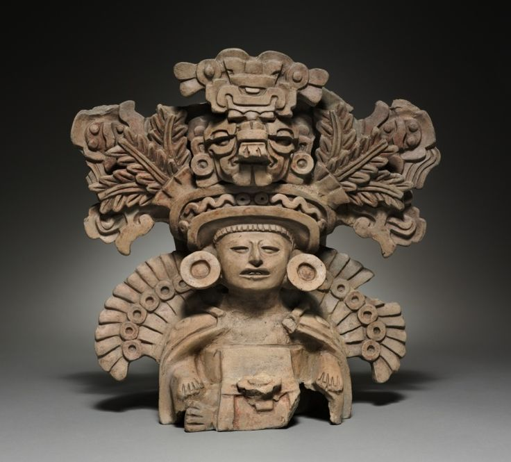 Funerary Urn, Mexico, Oaxaca, Zapotec Culture  terracotta, Overall - h:38.25 w:38.50 d:25.25 cm (h:15 w:15 1/8 d:9 15/16 inches).