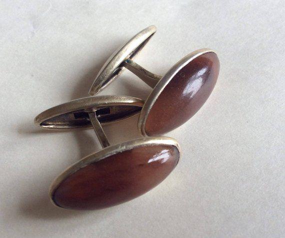 USSR Vintage cuff links sterling silver 875 Soviet