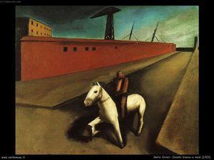 Mario Sironi - Weißes Pferd und Dock