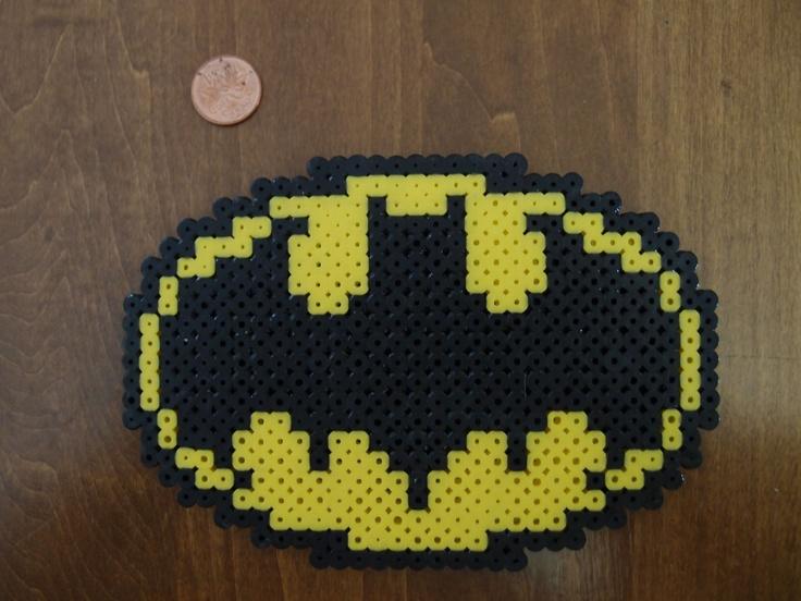 Perler Bead Batman Symbol Magnet. $5.00, via Etsy.