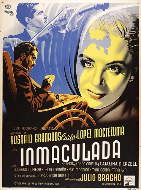 "MP946. ""Inmaculada"" Mexican Movie Poster by Josep Renau (Julio Bracho 1950) / #Movieposter"