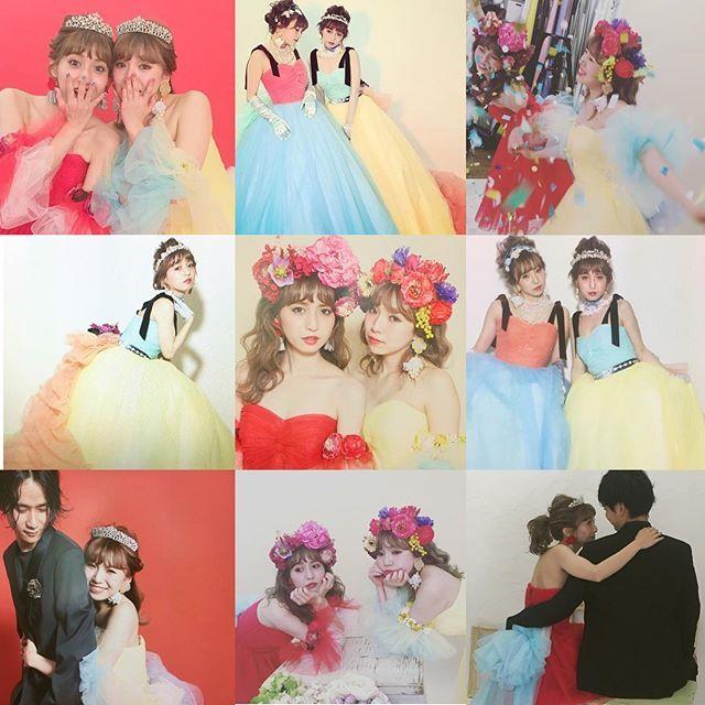 ディズニープリンセスみたいで可愛かった2人カラードレスもミニドレスも可愛かった〜〜 #rumi_ヘアアレンジ #thesweetcloset