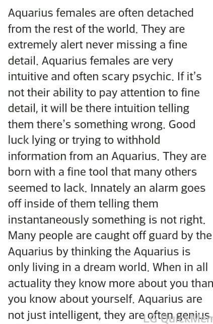 Aquarius ♒ woman