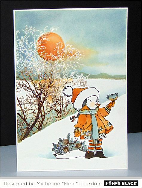 """Featuring Penny Black stamps and dies and the cardmaking style of Micheline """"Mimi"""" Jourdain-- click through for details"""