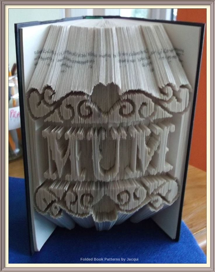 Mum Framed. Book Folding Pattern. by JHBookFoldPatterns on Etsy