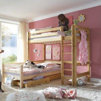 Eck etagenbett kombination 503 hochbett liege for Gestaltungsideen kinderzimmer