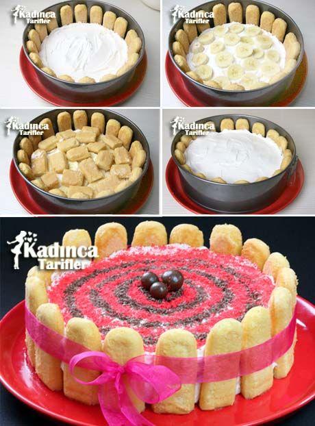 Kedidili İle Pratik Yaş Pasta Tarifi
