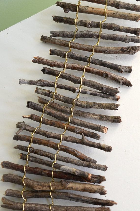 Miniature twig fence by garnetteh on Etsy, $13.50