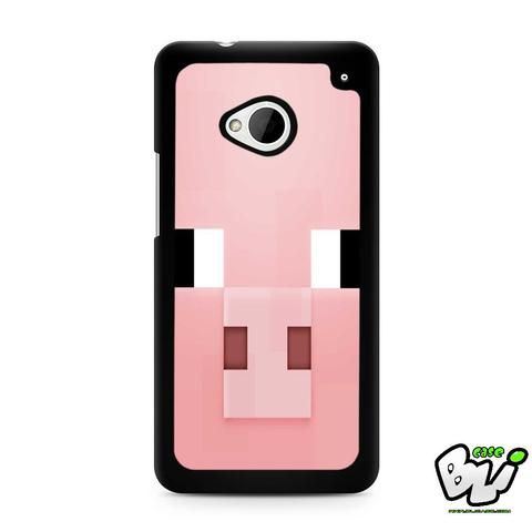 Minecraft Pig Pink Head HTC G21,HTC ONE X,HTC ONE S,HTC M7,M8,M8 Mini,M9,M9 Plus,HTC Desire Case