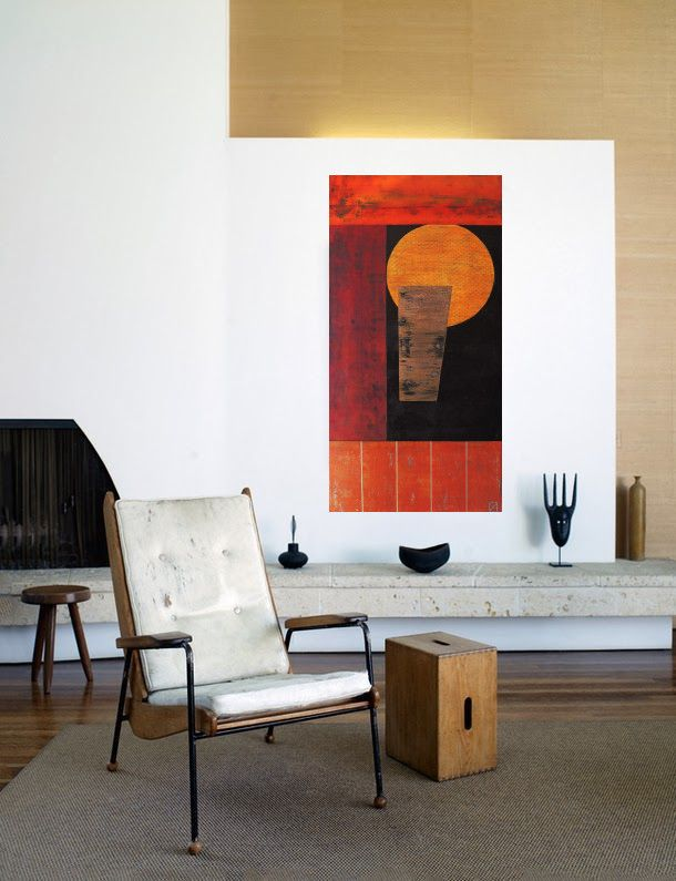 """Original Hand Made / Abstract Painting / Modern Art https://www.etsy.com/listing/250503039/time-of-days?ref=shop_home_active_1 """"Time of Days"""" 50x100 acrylic"""