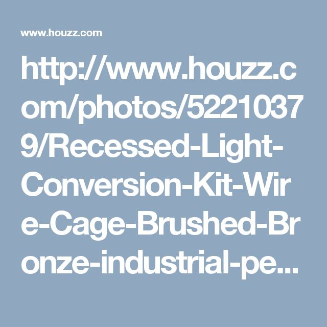 http://www.houzz.com/photos/52210379/Recessed-Light-Conversion-Kit-Wire-Cage-Brushed-Bronze-industrial-pendant-lighting